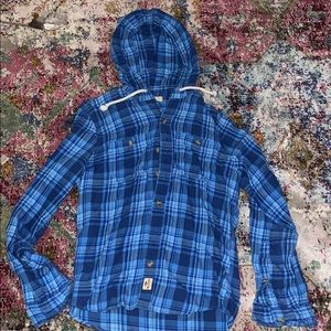 Hollister flannel with hood